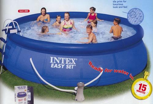 intex easy set pools pool design ideas pictures. Black Bedroom Furniture Sets. Home Design Ideas